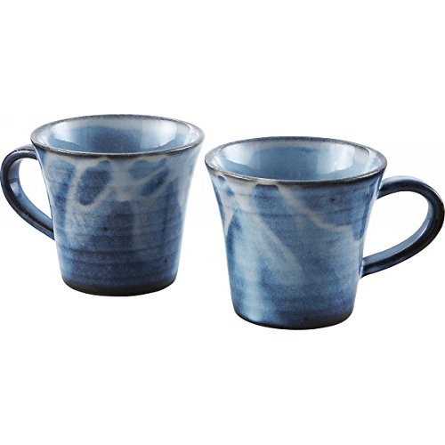 萩焼 彩紫 ペア マグカップ 14-40