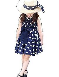 1e16ca52e5b36 ベビー用着ぐるみ 赤ちゃん服 Kohore 2019新作 女の子の水玉ノースリーブワンピース ...