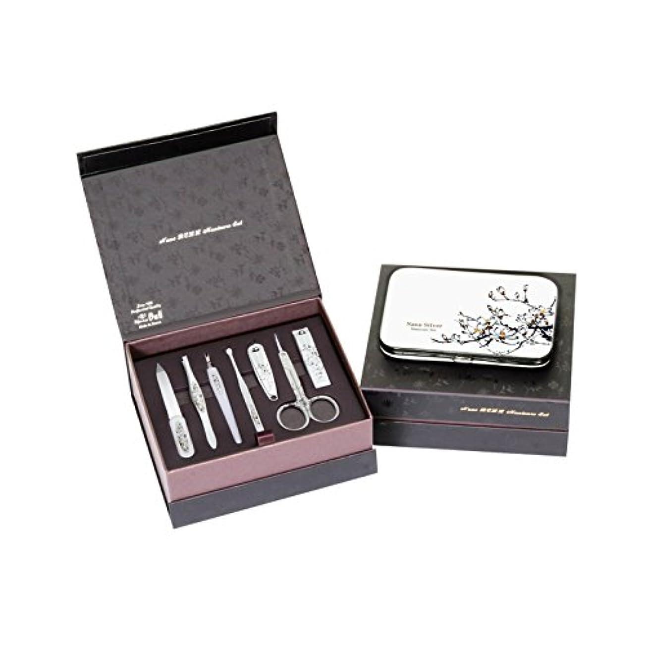 トマト請負業者効果METAL BELL Manicure Sets BN-8177A ポータブル爪の管理セット爪切りセット 高品質のネイルケアセット高級感のある東洋画のデザイン Portable Nail Clippers Nail Care...