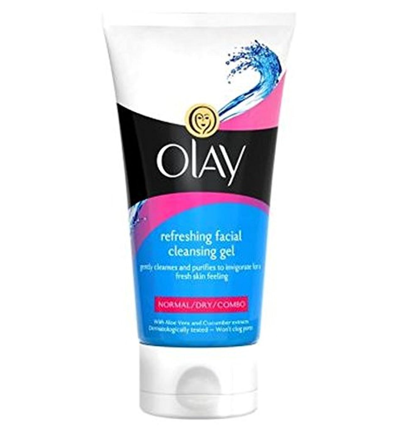 オーレイさわやかな洗顔ジェル150Ml (Olay) (x2) - Olay Refreshing Facial Cleansing Gel 150ml (Pack of 2) [並行輸入品]