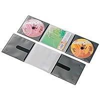 エレコム ディスクケース 省スペース CD DVD 2枚収納 10枚パック ブラック CCD-DP2C10BK