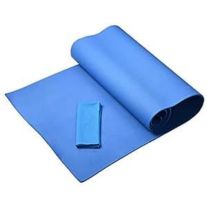 Setom ヨガマット トレーニングマット エクササイズマット ダイエットマット 冷却タオル付 エクササイズ トレーニング 筋トレ 体型整える ヨガバッグ付 厚さ6mm 軽量 滑り止め