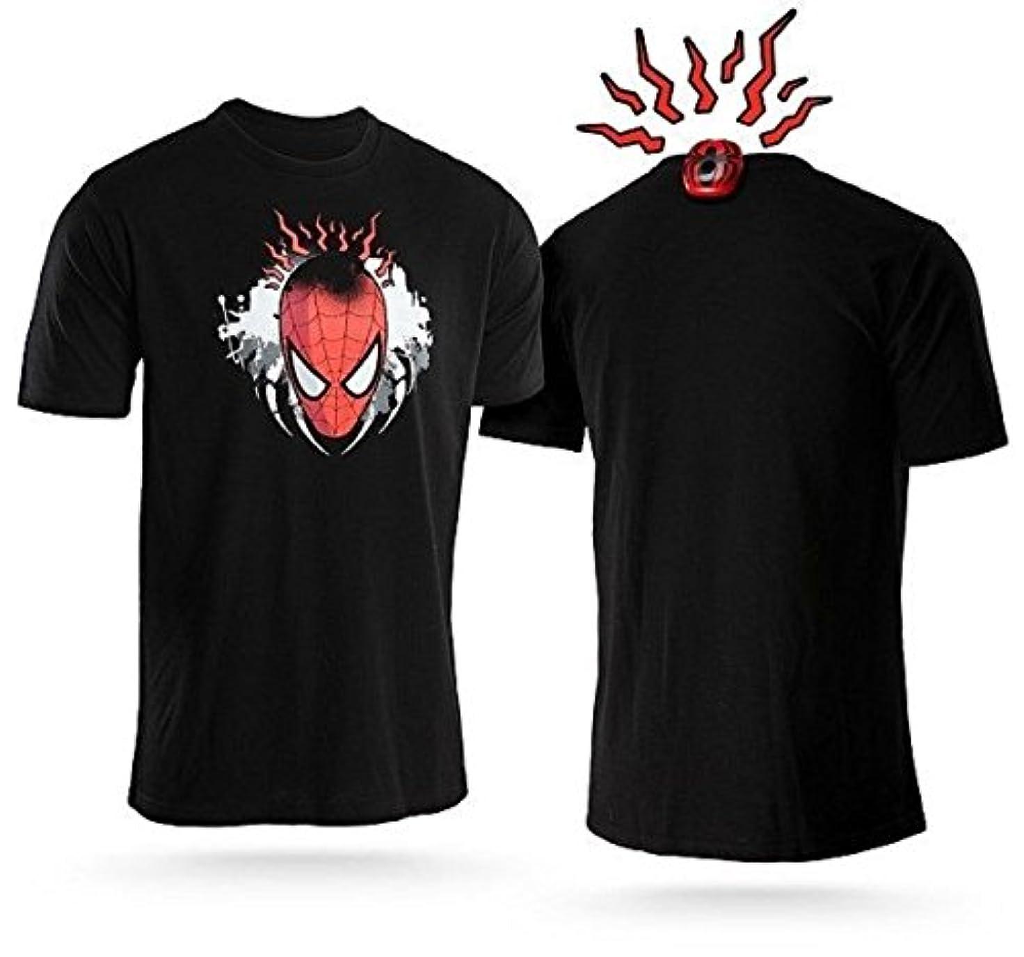 荒らす爆弾株式会社スパイダーマン センサー Tシャツ (並行輸入品)