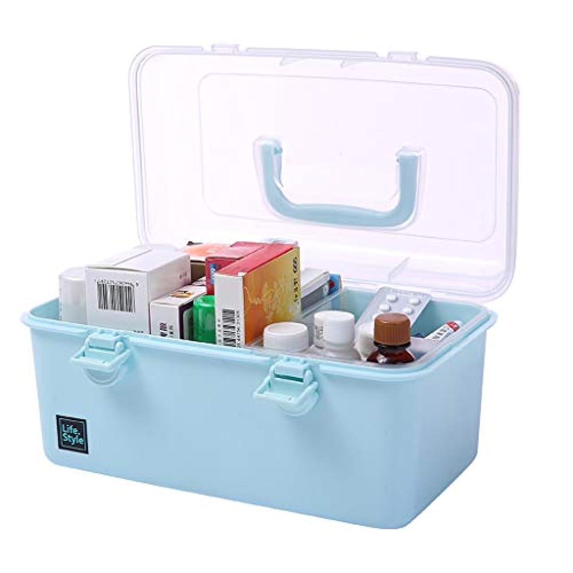 レザーカレッジ鈍いLF- 薬箱ドラッグ収納ボックスファミリーパックポータブル外来応急処置医療ボックスPP材料 セーブ