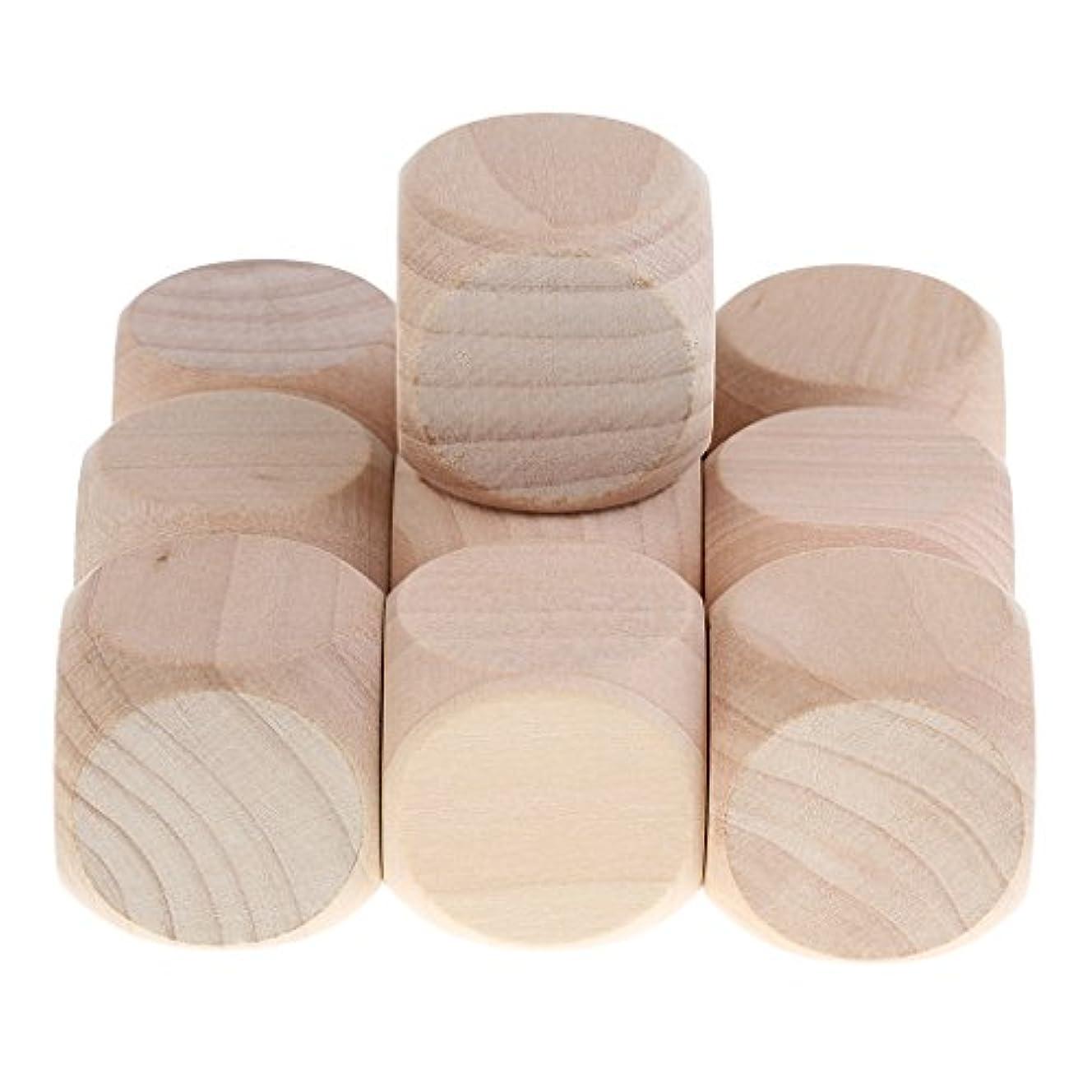 地下鉄出発利益10個 木製 6面ダイス DIY装飾と工芸用 3センチメートル 創造 ゲーム骰子 ブランク