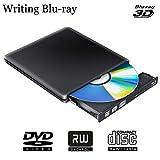 ブルーレイドライブ 外付け Blu-Rayディスク書き込み・読み込みUSB3.0 blu-rayドライブ BD再生 低騒音 超高速伝送 Windows 7/8/XP/Vista 、Linux、Mac OS対応
