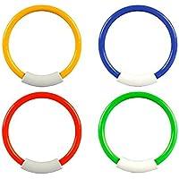 Beautyer ダイビングリング プラスチック製 水中 水泳玩具 キッズ 夏の楽しいおもちゃ 4ピース