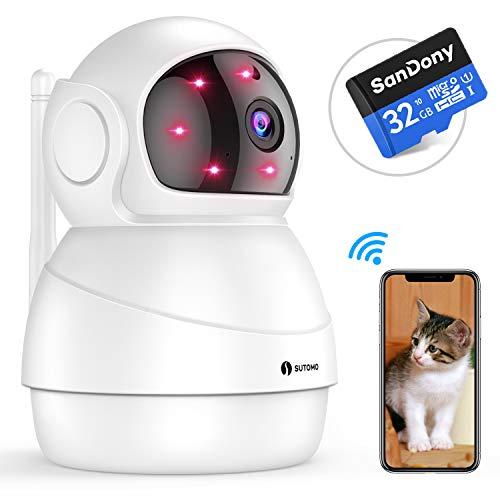 【増強版】 ネットワークカメラ wifi 小型 監視カメラ ...
