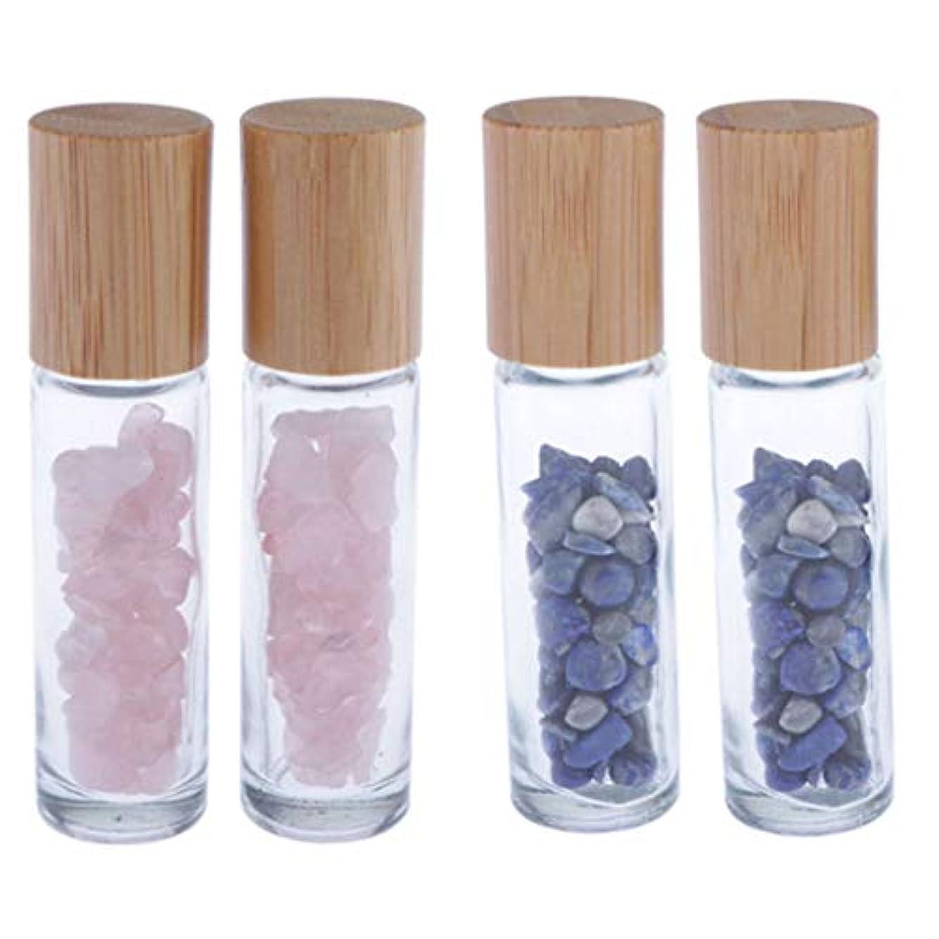掻くなぜ水っぽい香水瓶 ガラス ローラーボールボトル エッセンシャルオイルボトル 香水瓶 4個入り