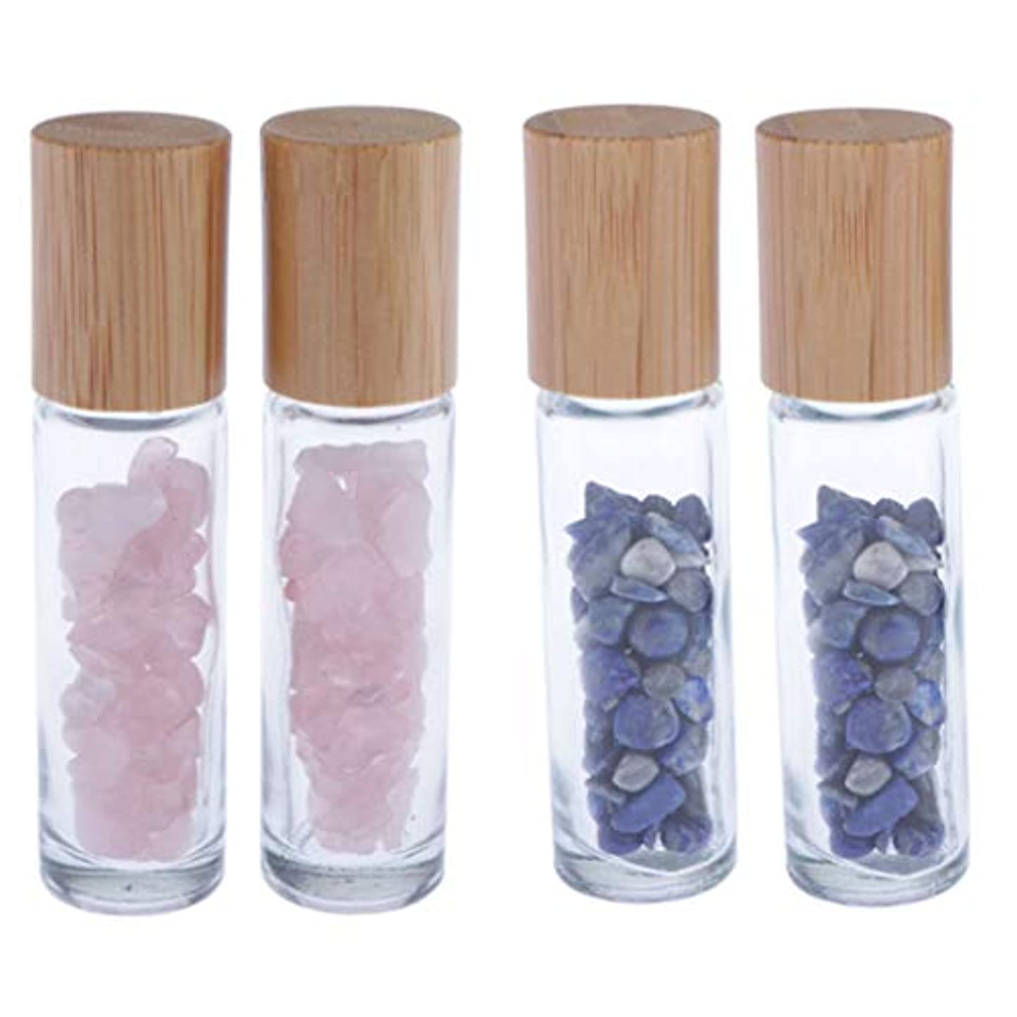 chiwanji 香水瓶 ガラス ローラーボールボトル エッセンシャルオイルボトル 香水瓶 4個入り