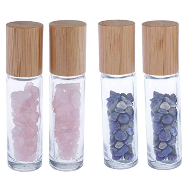 フレットサドル非互換香水瓶 ガラス ローラーボールボトル エッセンシャルオイルボトル 香水瓶 4個入り