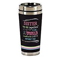 Sister World to Me 16オンス ステンレススチール トラベルマグ 蓋付き