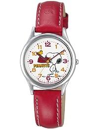 [シチズン キューアンドキュー]CITIZEN Q&Q 腕時計 PEANUTS(ピーナッツ) スヌーピー キャラクターウォッチ アナログ表示 レッド AA95-9852 レディース