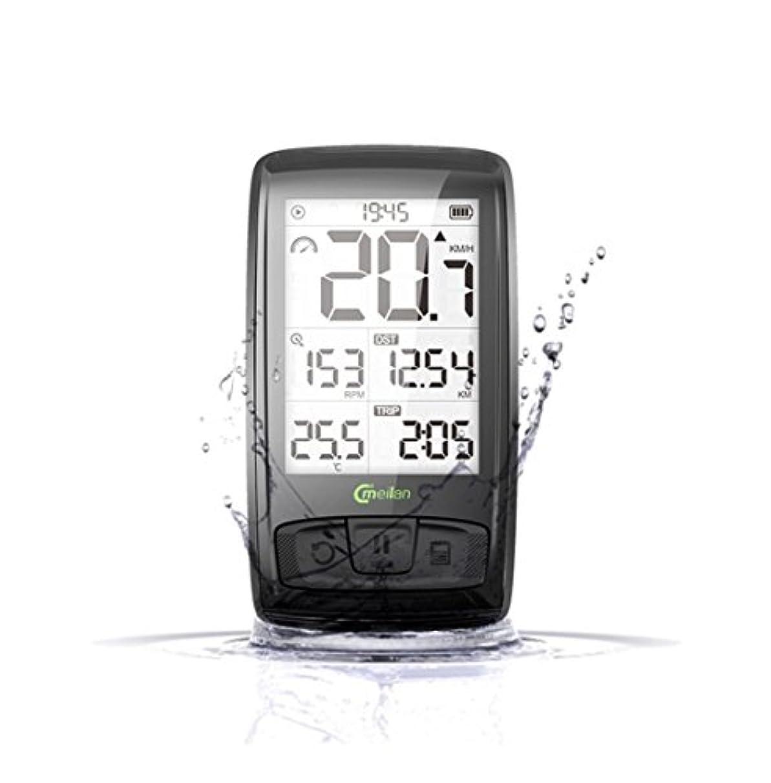 高度な回復する乗算【☆新商品☆】MeiLan M4 自転車 サイクルコンピューター Bluetooth連携 速度 ラップ機能 ケイデンス測定 心拍数 気温 アプリ連携 日本語説明書付き メーカー保証1年間有
