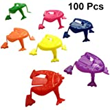Toyvian かえるさんジャンプ 指押すカエルのおもちゃ子供パーティー 好意誕生日プレゼント子供用100個(ランダムカラー)