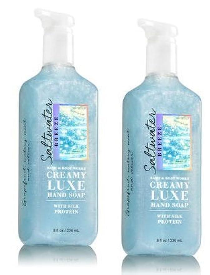 迅速差し引く透けるBath & Body Works ソルトウォーターブリーズ クリーミー リュクス ハンドソープ 2本セット SALTWATER BREEZE Creamy Luxe Hand Soap. 8 oz 236ml [並行輸入品]