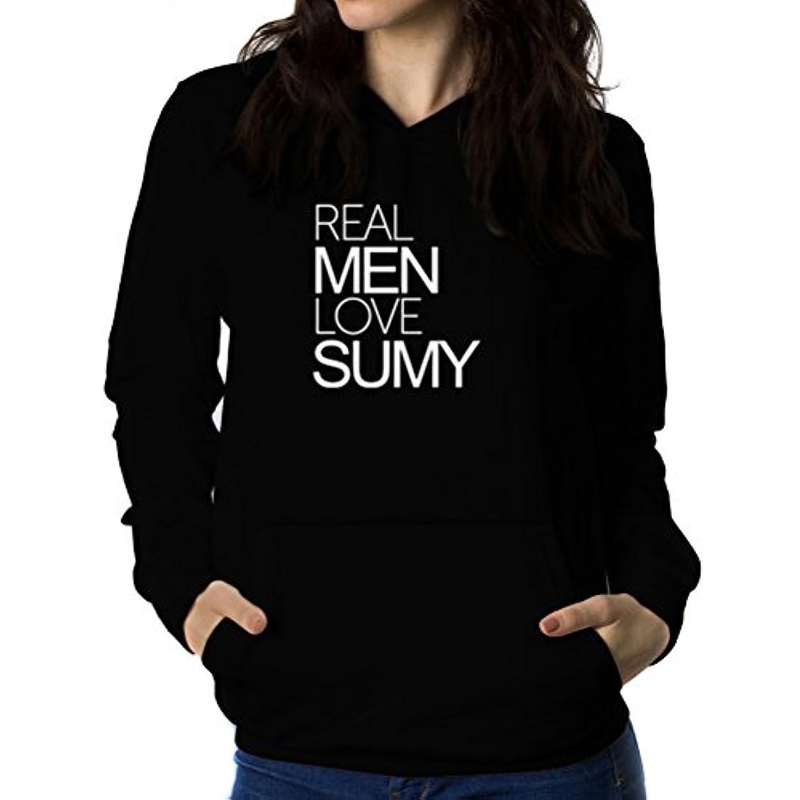 頑丈発音件名Real men love Sumy 女性 フーディー