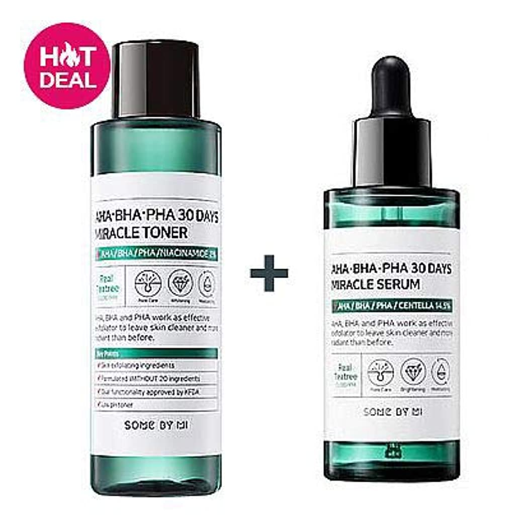 心配する小競り合い枝[SOMEBYMI] AHA.BHA.PHA 30 Days Miracle Toner 150ml + AHA.BHA.PHA 30 Days Miracle Serum 50ml [並行輸入品]