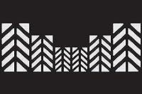 The Pixel Hut ref00211rオートバイ反射Chevronデカールキット–シルバー/ホワイト