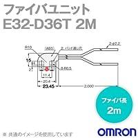 オムロン(OMRON) E32-D36T 2M ファイバユニットE32 (液面レベル検出) ファイバ長2m NN