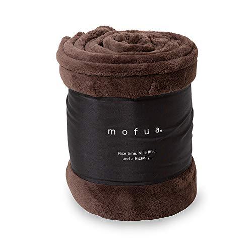 mofua(モフア)毛布 シングル ブラウン あったか ボリュームタイプ 1年間品質保証 静電気防止加工 プレミアムマイクロファイバー 32030106