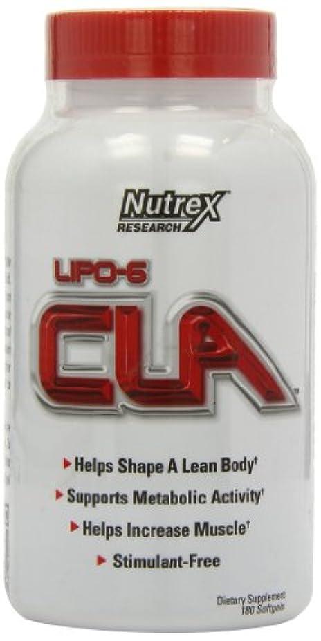胃が欲しい蒸留Nutrex Research, Lipo-6 CLA、180ソフトジェル