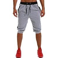 MODCHOK Men's Shorts Pants Running Sweatpants Cotton Joggers Slim Fit Tracksuit