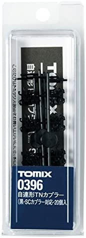 TOMIX Nゲージ 自連形 TNカプラー 黒 SCカプラー対応 20個入 0396 鉄道模型用品