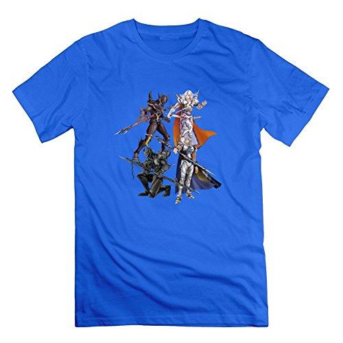 ファイナルファンタジー14グレーメンズ人気TシャツシャツPersonalized