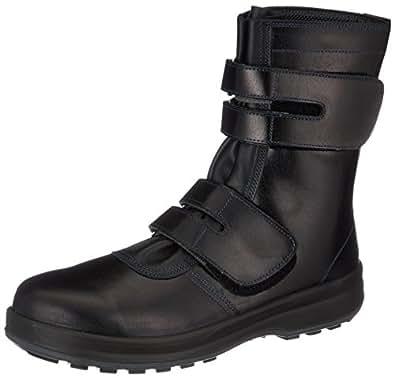 Amazon | [シモン] 安全靴 長編上 JIS規格 耐滑 快適 革製 高級 8538黒 ...