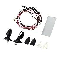 Fityle サイド リアビューミラー LEDライト付き  RCレーシングカー用 アクセサリー
