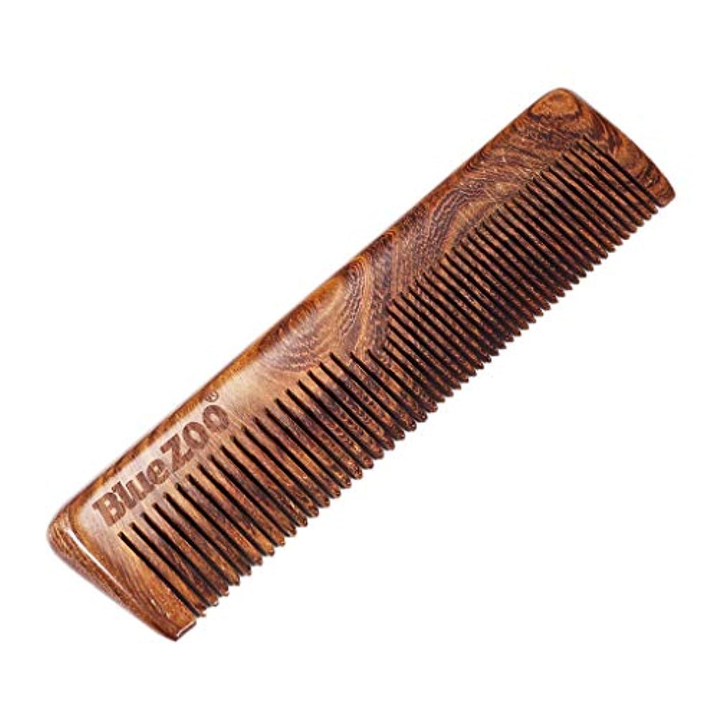 ブルーベル物理的な暴露B Blesiya 木製櫛 帯電防止 ウッドコーム ビアードコーム
