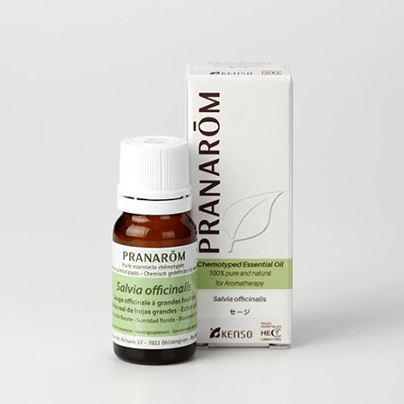 感度爵からかう【セージ 10ml】→樟脳のようなハッキリとした香り?(リフレッシュハーブ系)[PRANAROM(プラナロム)精油/アロマオイル/エッセンシャルオイル]P-164