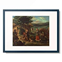 ドメニキーノ il Domenichino (ドメニコ・ザンピエーリ Domenico Zampieri) 「Herminie chez les bergers」 額装アート作品