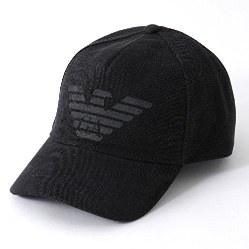 EMPORIO ARMANI エンポリオアルマーニ 627252 8P558 コットンキャップ スポーツ ベースボールキャップ 帽子 00020 00020/BLACK [並行輸入品]