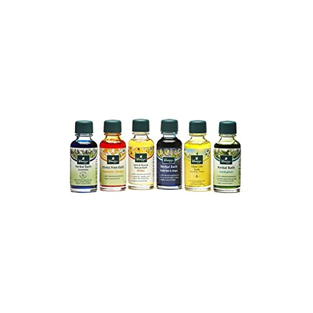 残り物不振柔和クナイプバスオイルコレクション(6×20ミリリットル) x4 - Kneipp Bath Oil Collection (6 x 20ml) (Pack of 4) [並行輸入品]