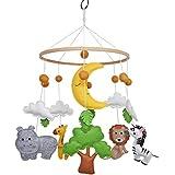 Baby Nursery Mobile Soft Jungle Safari Zoo Animals