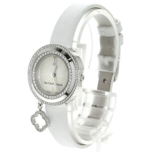 Van Cleef & Arpels(ヴァンクリーフ&アーペル) チャームゴールドミニ ダイヤモンド 腕時計 K18ホワイトゴールド/革 レディース (中古)