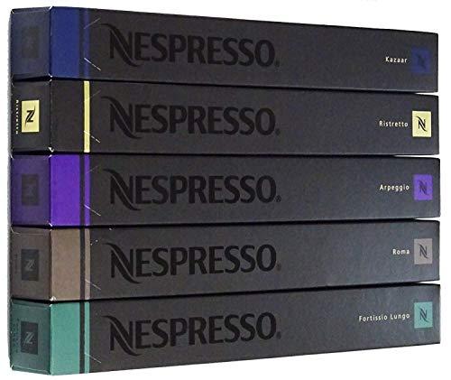 ネスプレッソ インテンソコーヒー5本セット(各10カプセル×5本 計50カプセル) [並行輸入品]
