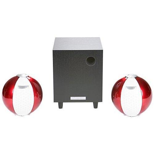 HANNspree Circus 2.1 Channel Speaker System - Red (KS05-21U1-000) [並行輸入品]