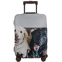 Axiongsd スーツケースカバー キャリーバッグ 伸縮素材 傷防止 可愛風 犬