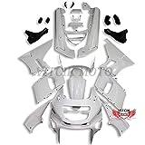VITCIK (フェアリングキット 対応車種 カワサキ Kawasaki ZZR400 1993-2007 93 94 95 96 97 98 99 02 03 04 05 06 07) プラスチックABS射出成型 完全なオートバイ車体 アフターマーケット車体フレーム 外装パーツセット(無塗装) ABB1