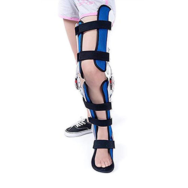 なす大いに完全に乾く膝足首足装具、股関節膝足装具脚の骨折、下肢麻痺、ウォーキングブーツで固定されたヒップウォーキングブレース
