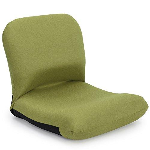 座椅子 産学連携 背中を支える 美姿勢座椅子 CBC313 グリーン 日本製 ymz-103