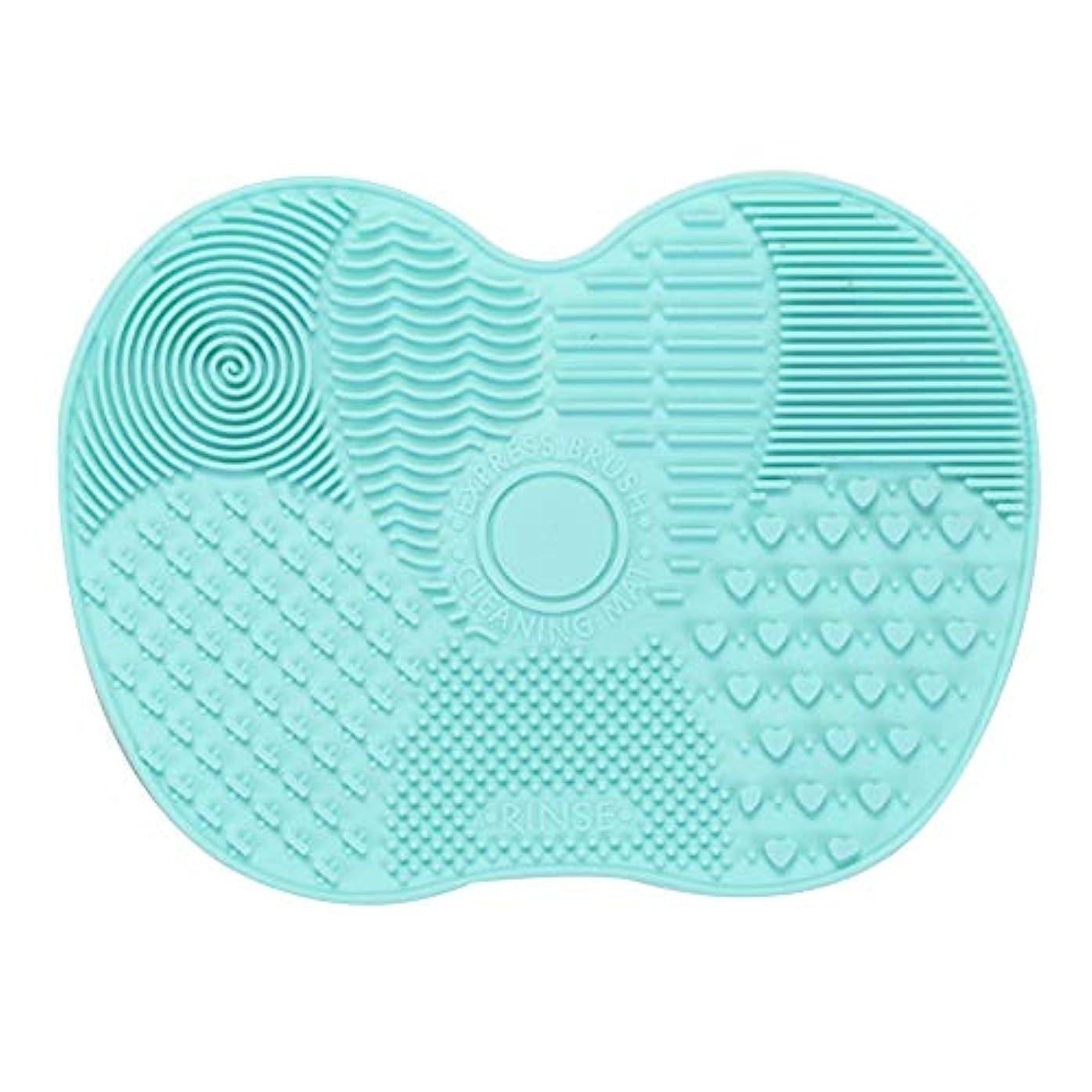 安全喜びより良いシリカゲルパッドの化粧ブラシ化粧ブラシ清掃パッドクリーニングパッドは、クリーンすすぎ洗浄し、グリーンプロ化粧ブラシを保持しました。