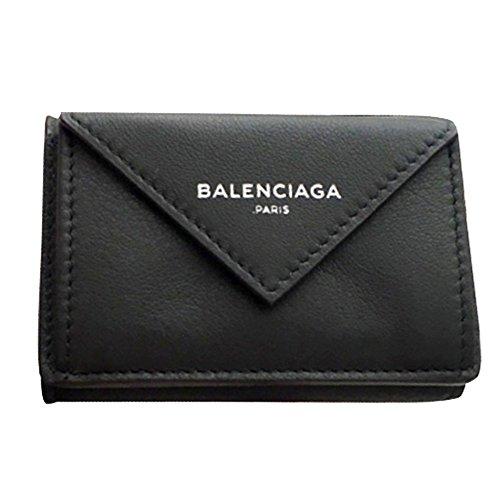 バレンシアガ Balenciaga ペーパー ミニ ウォレット black ブラック 黒