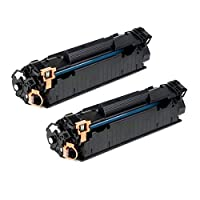 QINK ce278a 278A 78Aトナー互換トナーカートリッジ交換ce278a 278A 78A (ブラック, 2- Pack )使用for LaserJet p1606dn ; LaserJet m1536dnf