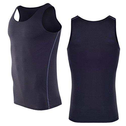アンダーウェアメンズ メンズタンクトップ スポーツインナーウエア 袖なし 吸汗速乾 超弾速乾メンズ メンズファッション (XL, ラック)