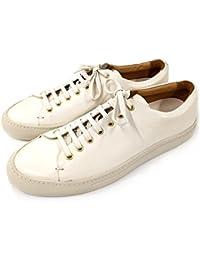 【BUTTERO ブッテロ】 レザーローカットスニーカー 本革 (B6305) ホワイト