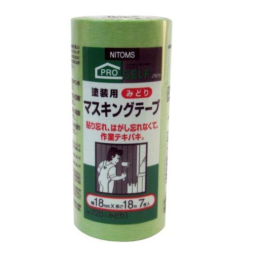 塗装用マスキングテープNo.720 7P/J7670 18mmx18m